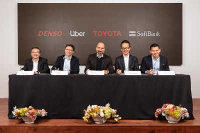Toyota, DENSO och SoftBank Vision Fund investerar 1 miljard dollar i Uber Advanced Technologies Group