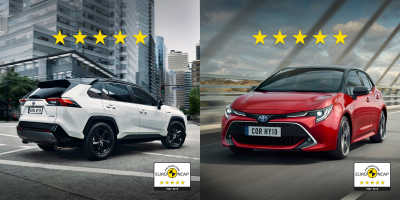 Toppresultat för nya Toyota Corolla och RAV4 efter krocktester
