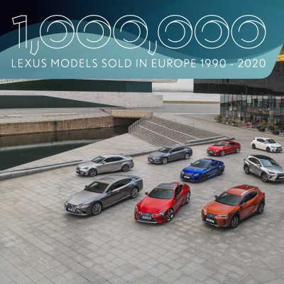 Lexus har sålt en miljon bilar i Europa