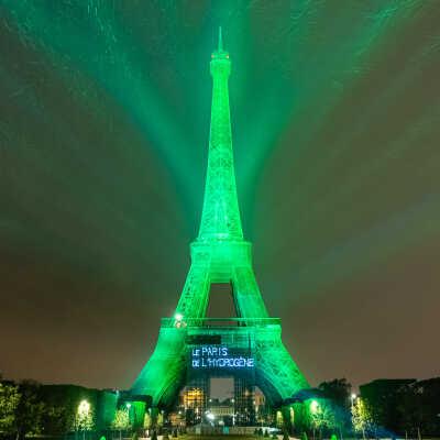 Grönt ljus för vätgas på Eiffeltornet