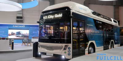 Första elbussen med bränsleceller från Toyota presenterad i Europa