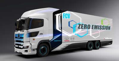 Toyota och Hino utvecklar tung lastbil med bränseceller