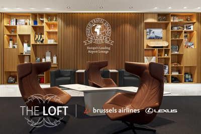 """THE LOFT by Brussels Airlines & Lexus"" utsedd till 'Europas ledande flygplatslounge 2019'"