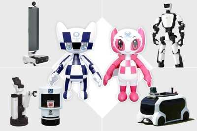 Toyota-robotar hjälper till under Olympiska och Paralympiska spelen i Tokyo 2020