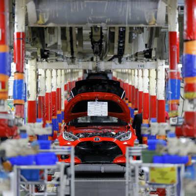 Fabriken fick nya Toyota Yaris på rull trots motvind